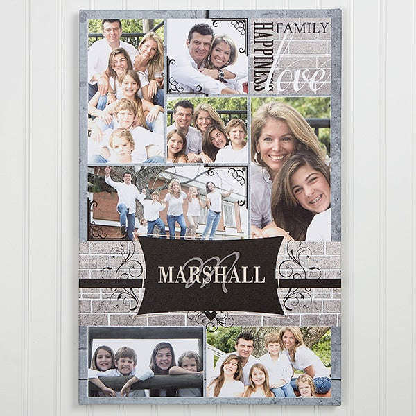 Family Photo Memories Personalized Canvas Print