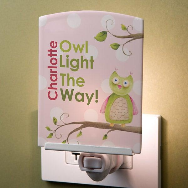 Personalized Kids Night Light - Owl - 12775