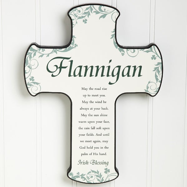 Personalized Irish Wall Cross - Traditional Irish Blessing - 12794