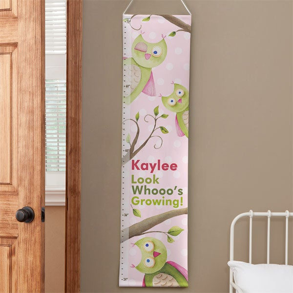 Personalized Kids Growth Charts - Owl - 12807