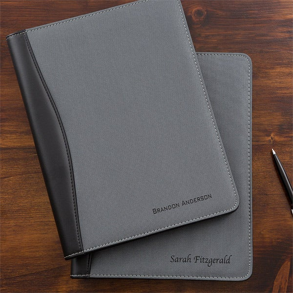 d89459ea459d Business Professional Personalized Portfolios - Grey   Black - 12877