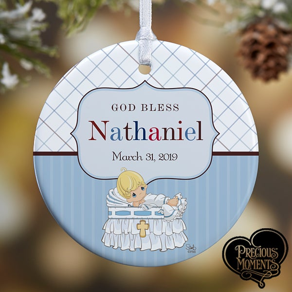 Personalized Christening Ornaments - Precious Moments - 12931-p