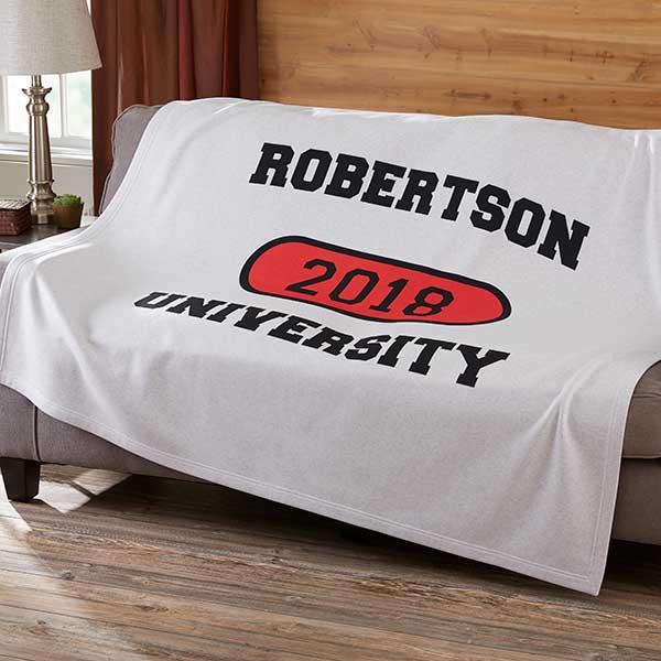 School Pride Personalized Sweatshirt Blankets - 12940