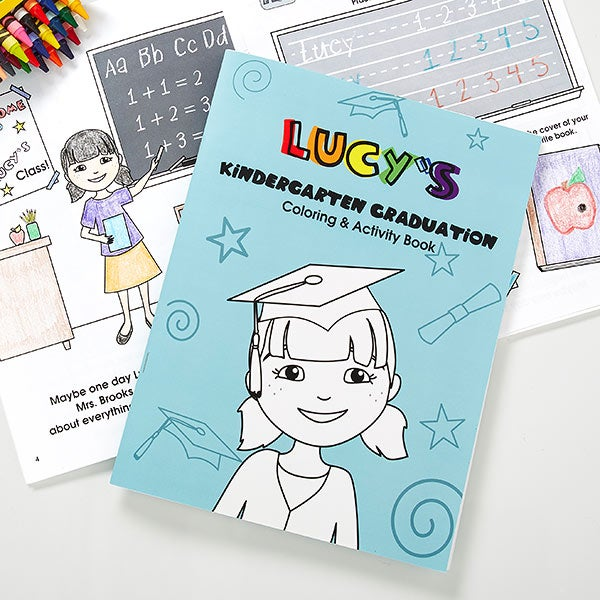 - Personalized Kids Graduation Coloring Book - Kindergarten Or Preschool
