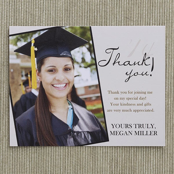 Refined Graduate Custom Thank You Cards