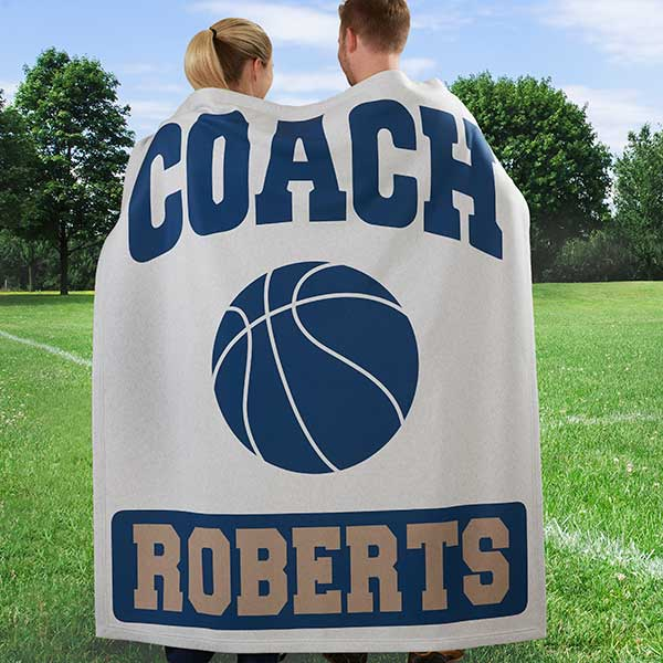 Personalized Blankets for Sports Coaches - 12974