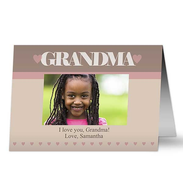Personalized Photo Greeting Cards for Her - Special Lady - 12975