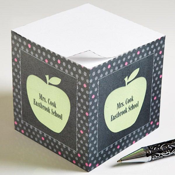 Personalized Teacher Note Pads - Teacher's Apple - 12979