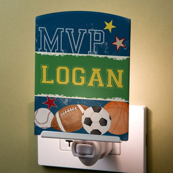 Personalized Kids Night Lights - Sports - 12998