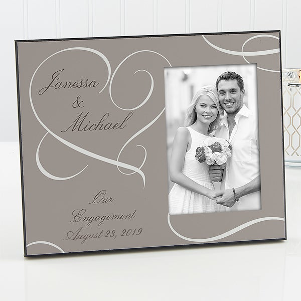 engagement picture frames handmade personalization mall personalized picture frames our engagement 13024