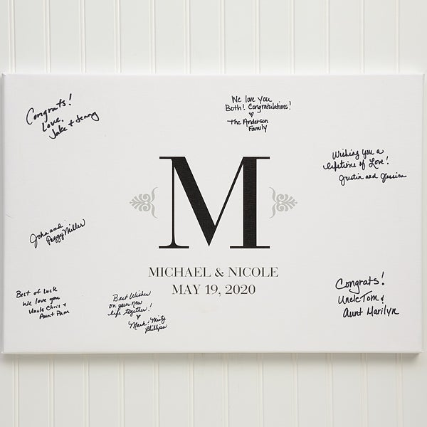 Personalized Wedding Guestbook Canvas Print