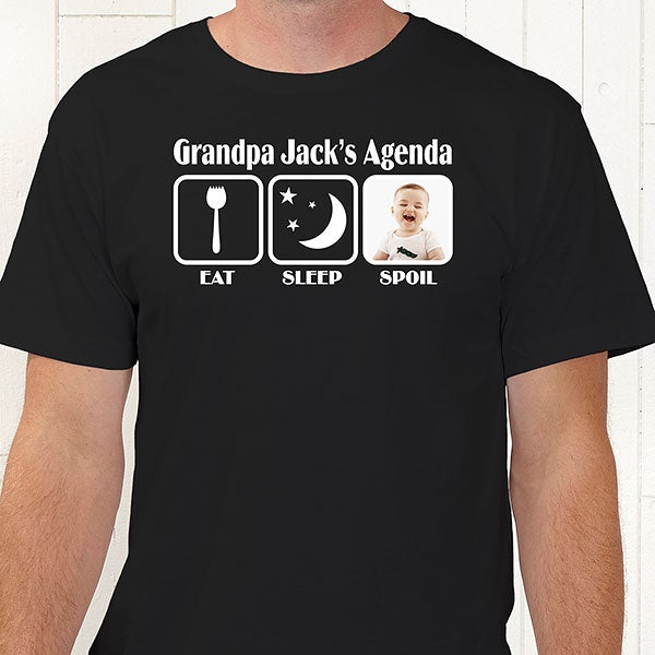 6a15a342 Personalized Dad T-Shirts - His Agenda - For Him