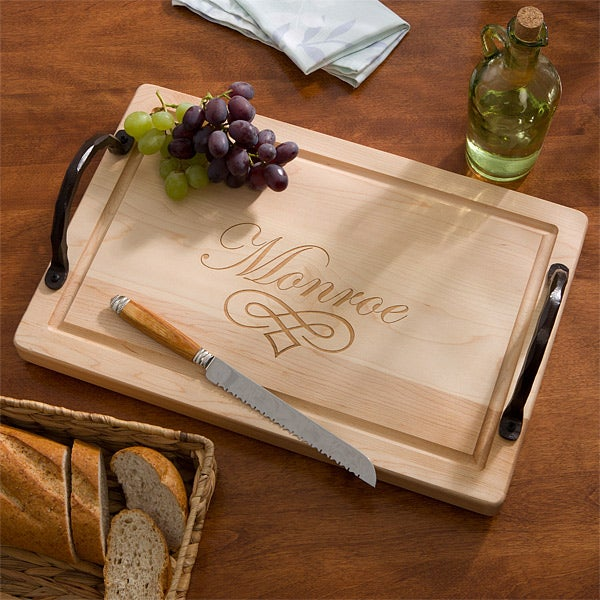 Maple Leaf Personalized Cutting Board