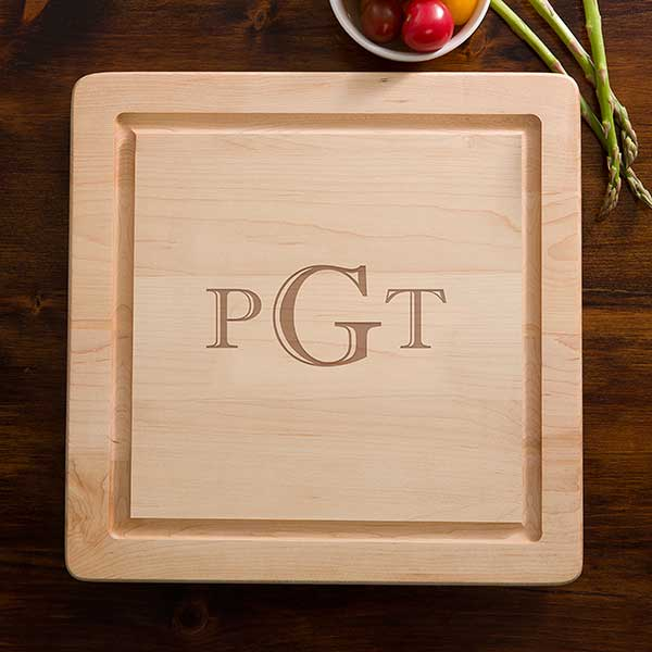 Personalized Square Cutting Boards - Maple - 13072D