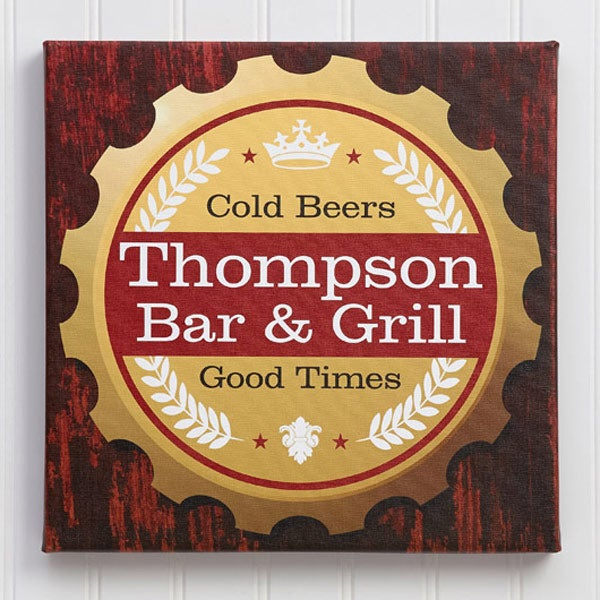 Personalized Canvas Bar Art - Premium Brew - 13091