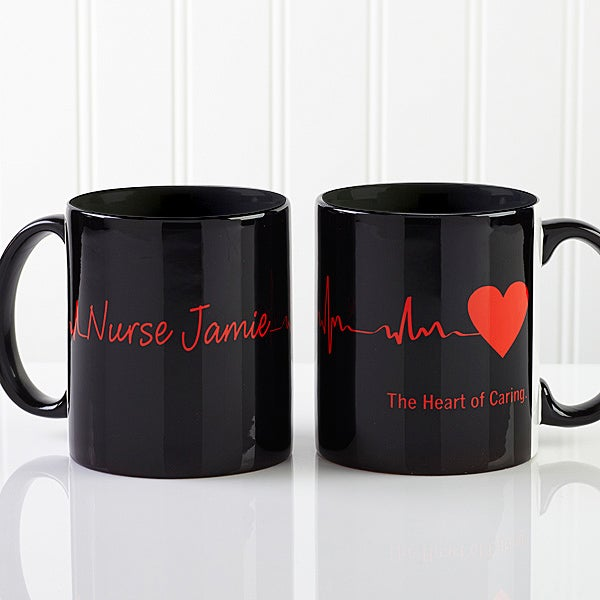 Personalized Doctor Coffee Mugs - Heart of Caring - 13099