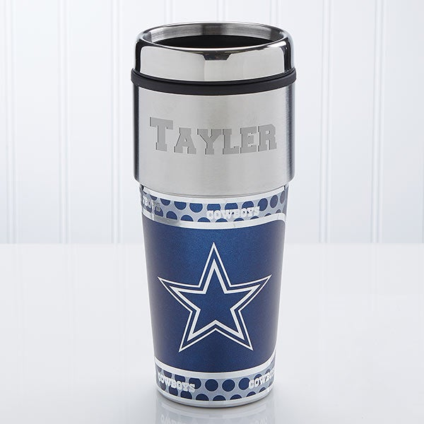 brand new c66cd 29188 NFL Dallas Cowboys Personalized Travel Mug