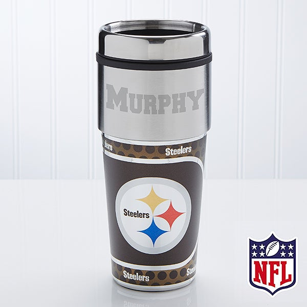 Personalized NFL Football Travel Mugs - Pittsburgh Steelers - 13124