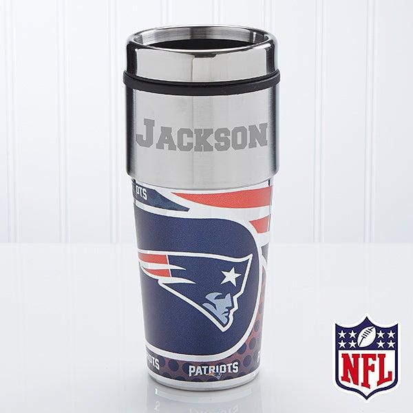 NFL Football Personalized Travel Mug - New England Patriots - 13126