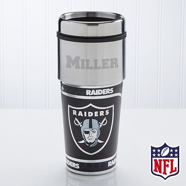NFL Football Personalized Travel Mugs - Oakland Raiders - 13128