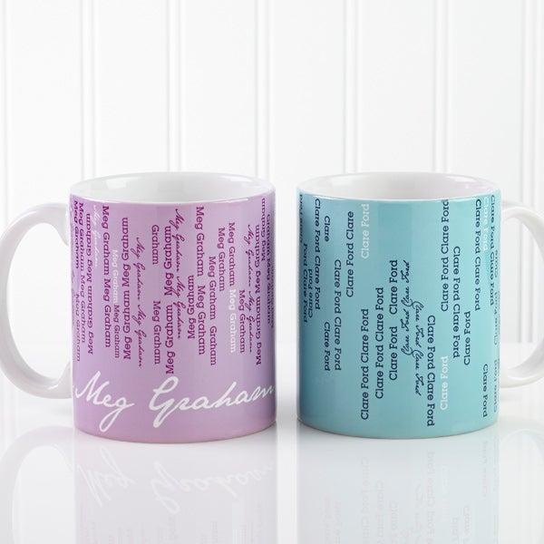 13138 Cascading Names Personalized Coffee Mug
