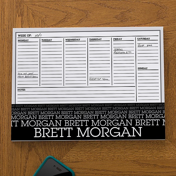 Personalized Weekly Planner - Optic Name - 13153