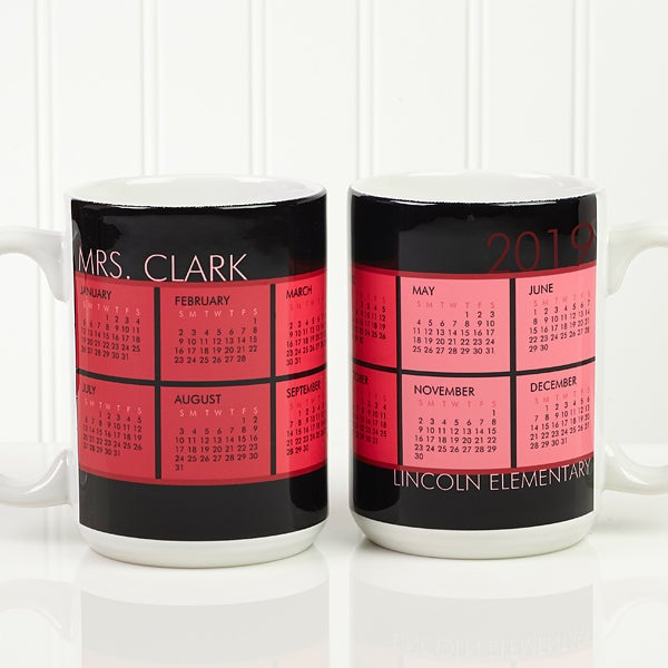 Personalized Calendar Coffee Mug - It's A Date - 13164