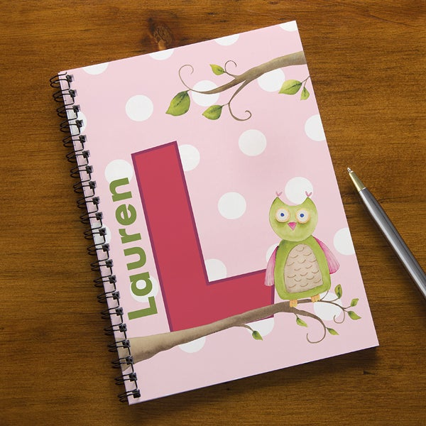 Personalized Girls Notebook Set - Owl About You - 13175