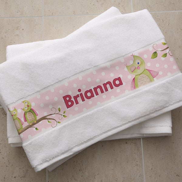 Personalized Kids Bath Towels - Owl About You - 13179