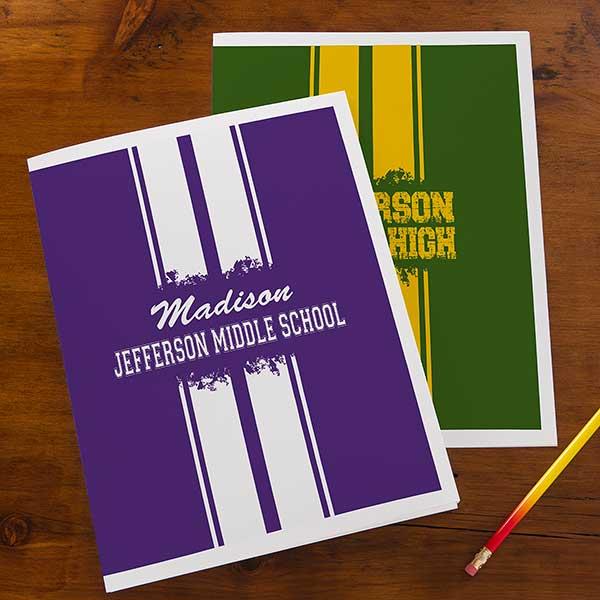 Personalized School Folders - School Spirit - 13183