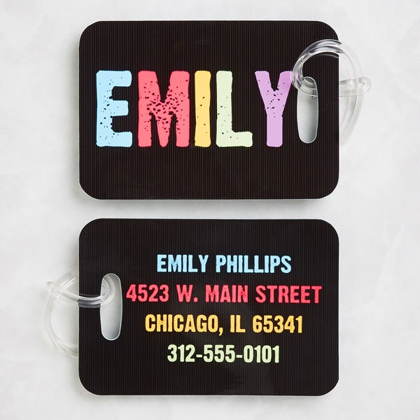 Personalized Kids Luggage Tag Set - Hands Off - 13228