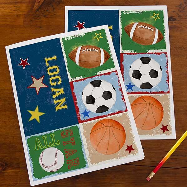 Personalized Sports Folders - Ready, Set, Score - 13239