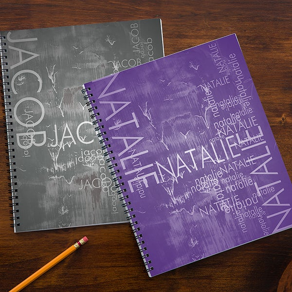 Personalized School Notebooks - Hidden Name - 13245