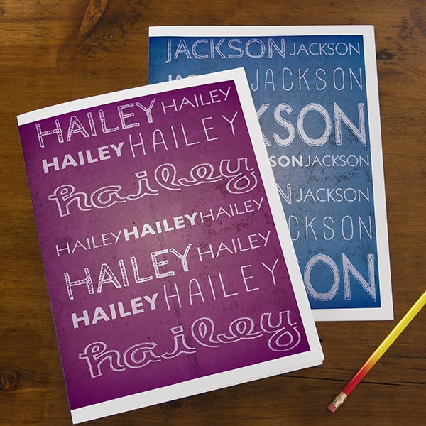 Personalized School Folders for Kids - My Name - 13287