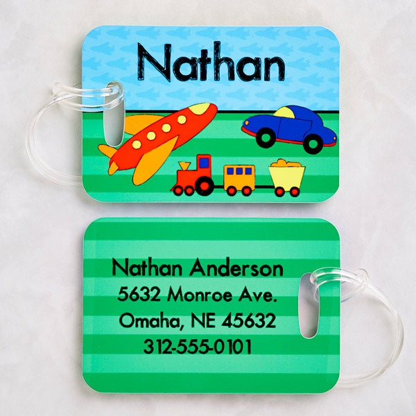 Personalized Boys Luggage Tag Set - Just For Him - 13307