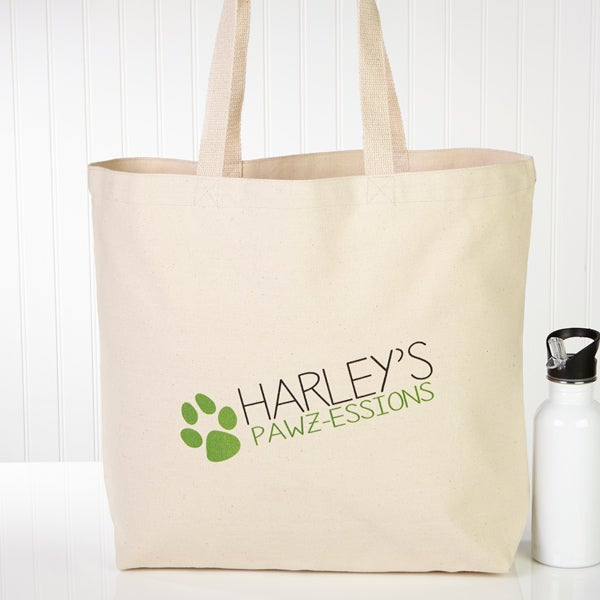 Personalized Dog Tote Bags My Pawz Essions 13339