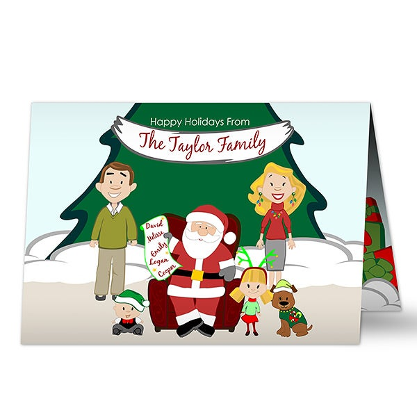 Personalized Christmas Cards.Picture With Santa Holiday Card