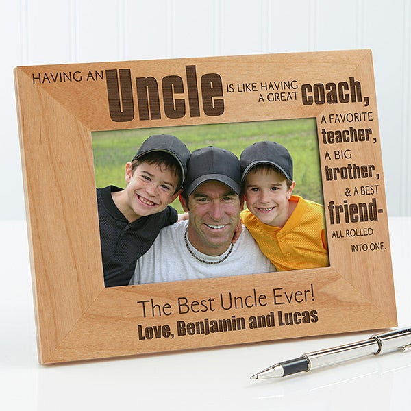 Personalized Uncle Picture Frames 4x6 For The Home