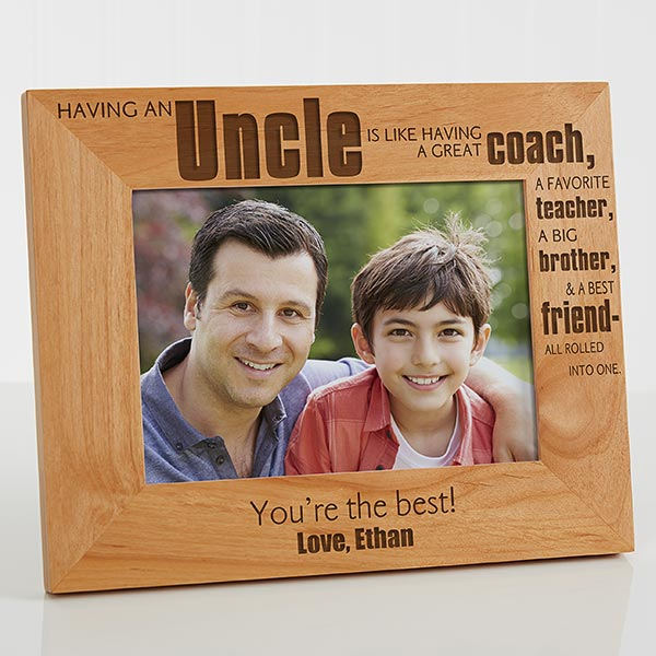 personalized uncle picture frame 5x7 for the home
