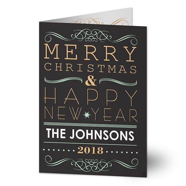 Personalized Christmas Cards - Tis The Season - 13362