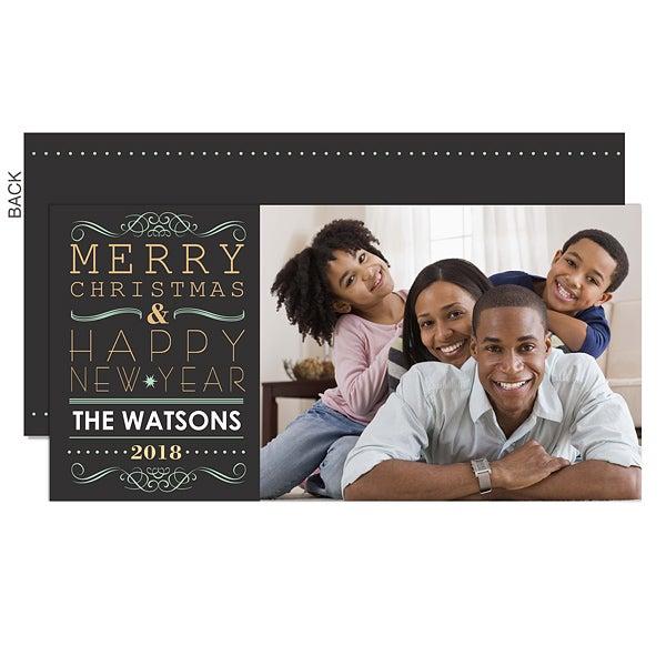 Personalized Photo Christmas Card Postcards - Tis The Season - 13387