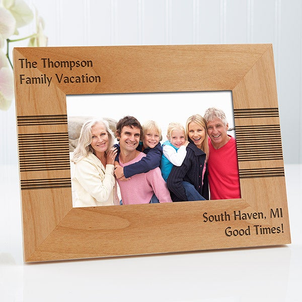 Personalized Wood Picture Frames - Simplicity - 13393