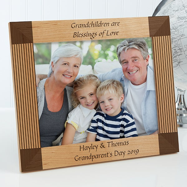 Personalized 8x10 Wood Picture Frame Create Your Own Design For