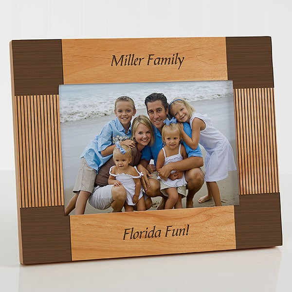 Personalized 5x7 Wood Picture Frame Create Your Own Design For