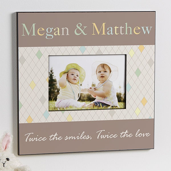 Personalized Picture Frames for Twins - Just For Them