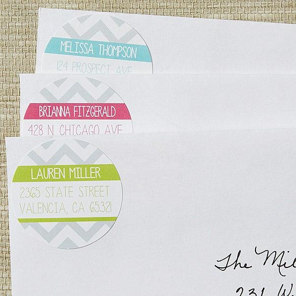 Personalized Return Address Labels - Chevron - 13520