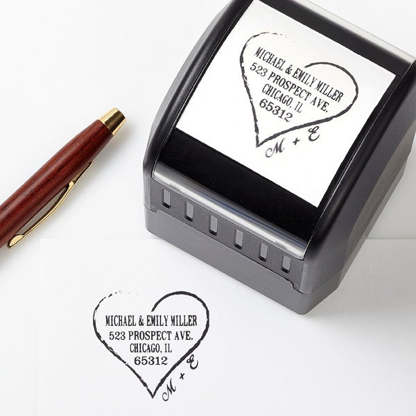 Personalized Address Stamp - Heart Of Love - 13524