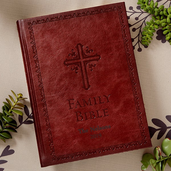 Personalized Family Bible - New King James - 13538 & Personalized Family Bible - New King James