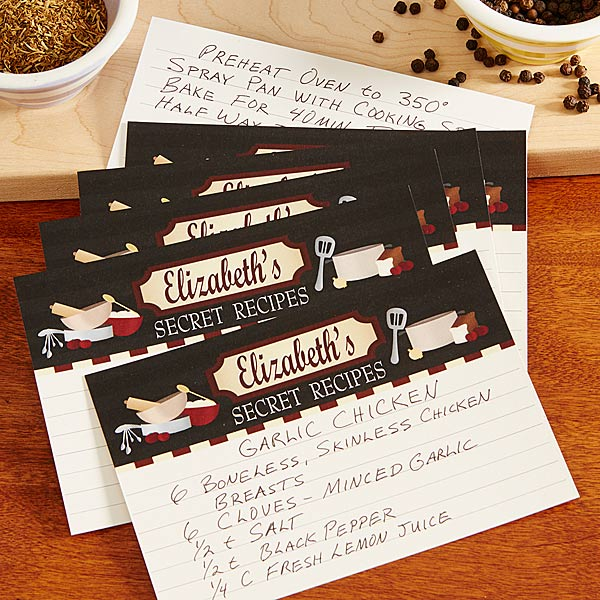 Personalized Recipe Cards - Family Bistro - 13545