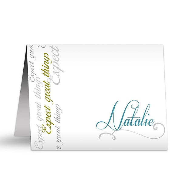 Inspirational Message Personalized Note Cards